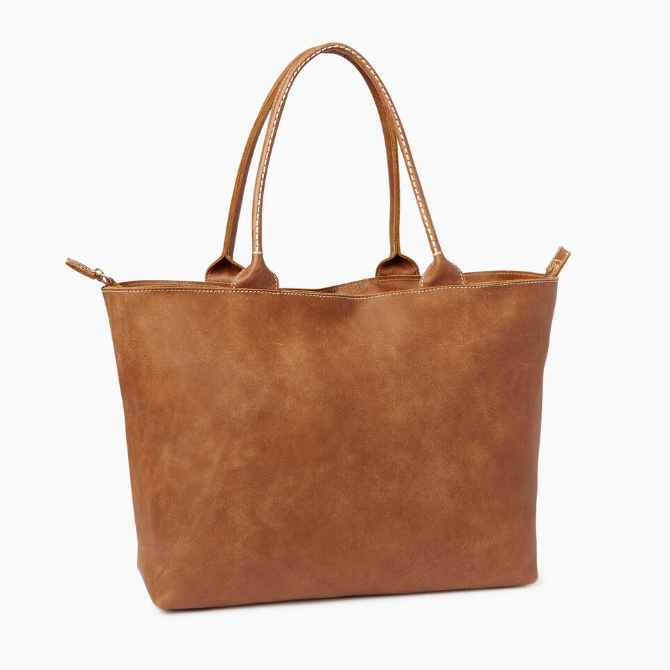 Roots-Leather Our Favourite New Arrivals-Mont Royal Tote-Natural-C