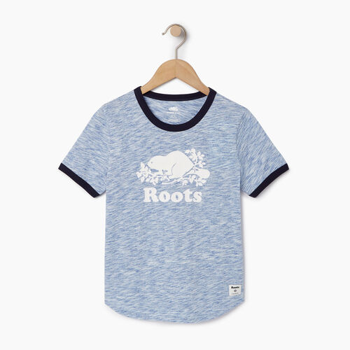 Roots-Clearance Kids-Boys Roots Space Dye T-shirt-Active Blue-A