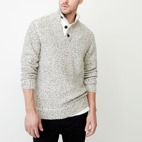 Roots-Men Our Favourite New Arrivals-Snowy Fox Mock Neck Sweater-Snowy Fox-A