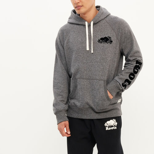 Roots-New For August Men-Remix Kanga Hoody-Charcoal Pepper-A