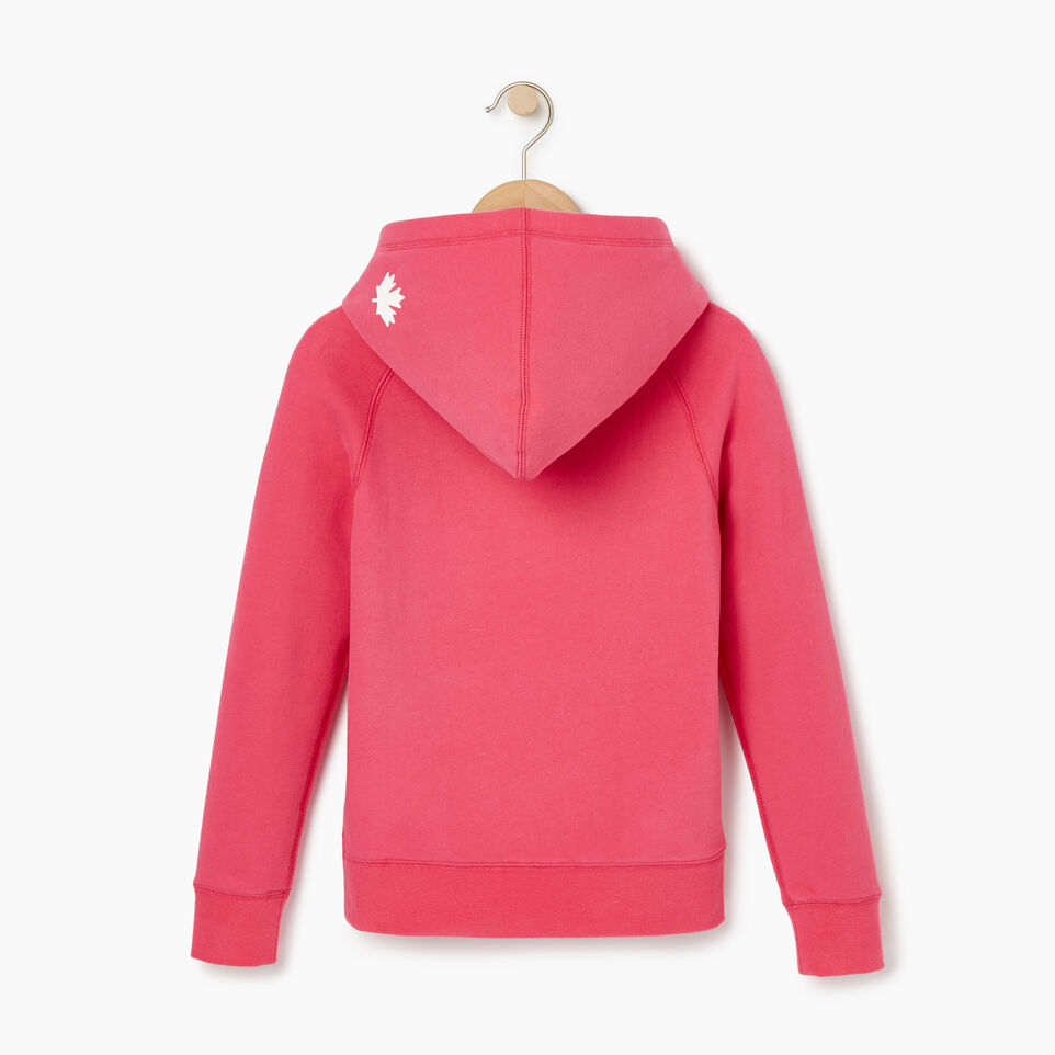 Roots-Clearance Kids-Girls Original Kanga Hoody-Pink Flambé-C