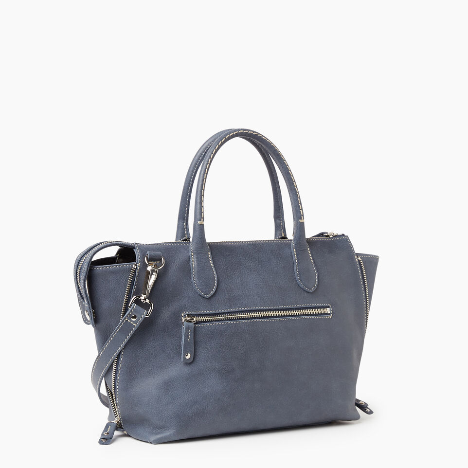 Roots-Leather New Arrivals-Arianna Bag Tribe-Navy-C
