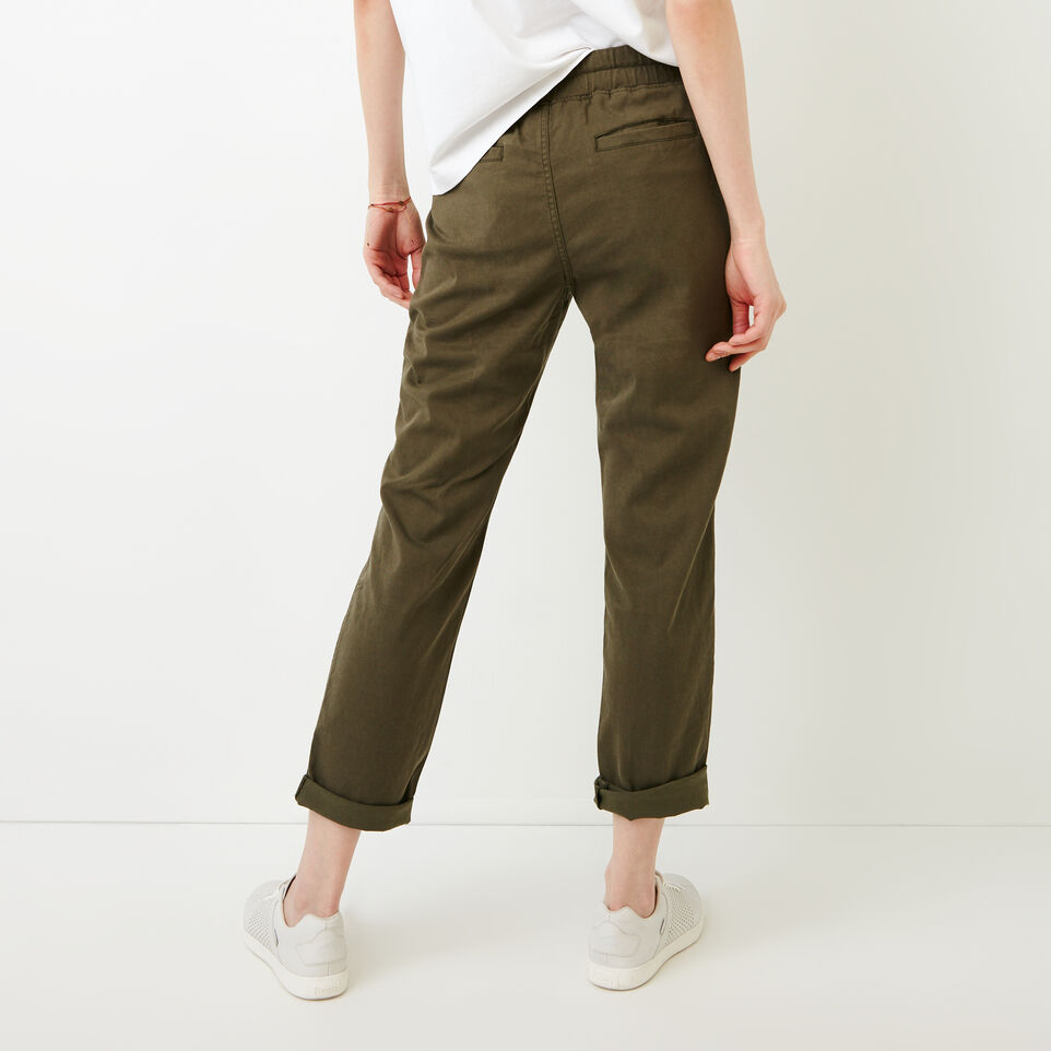 Roots-Women Categories-Essential Pant-Fatigue-D