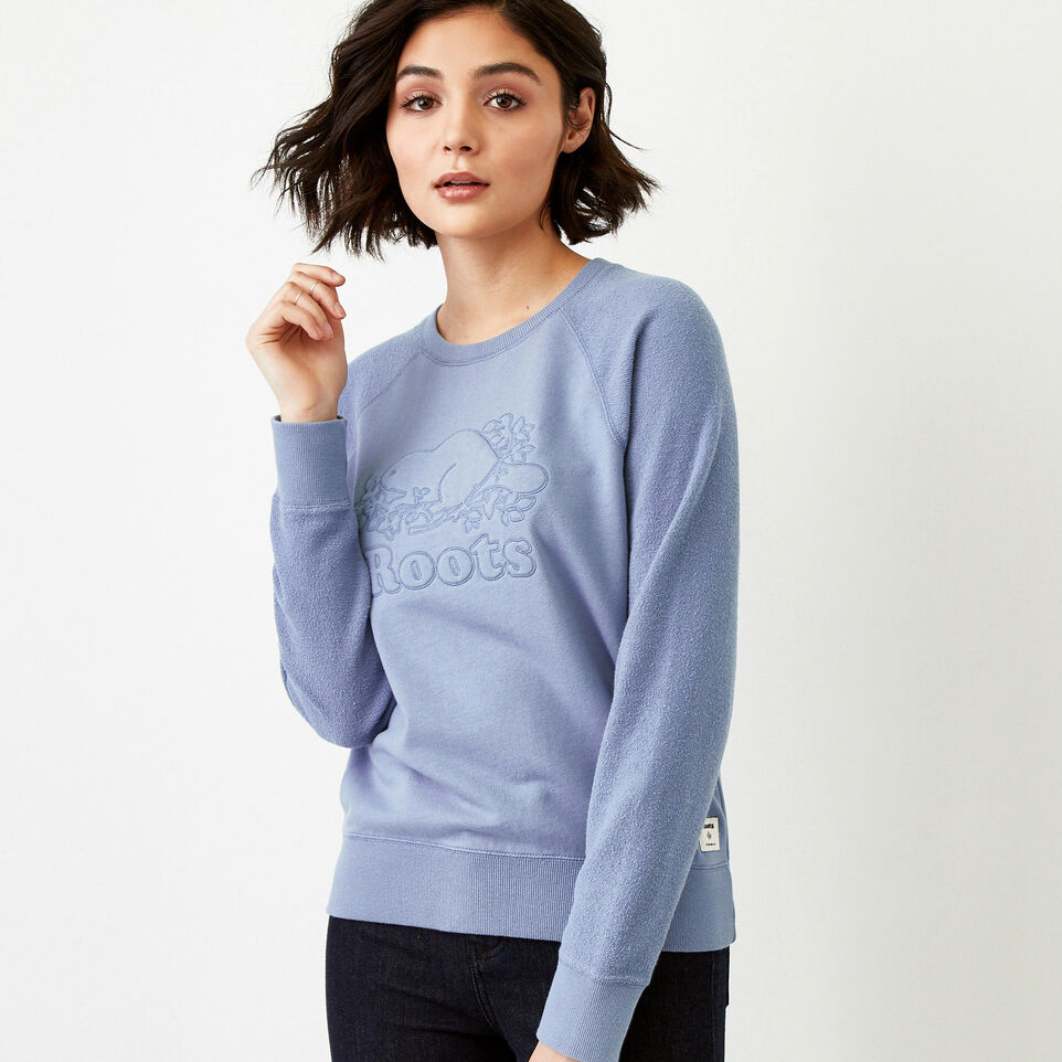 Roots-Women Our Favourite New Arrivals-Weymouth Crew Sweatshirt-Stone Blue-C