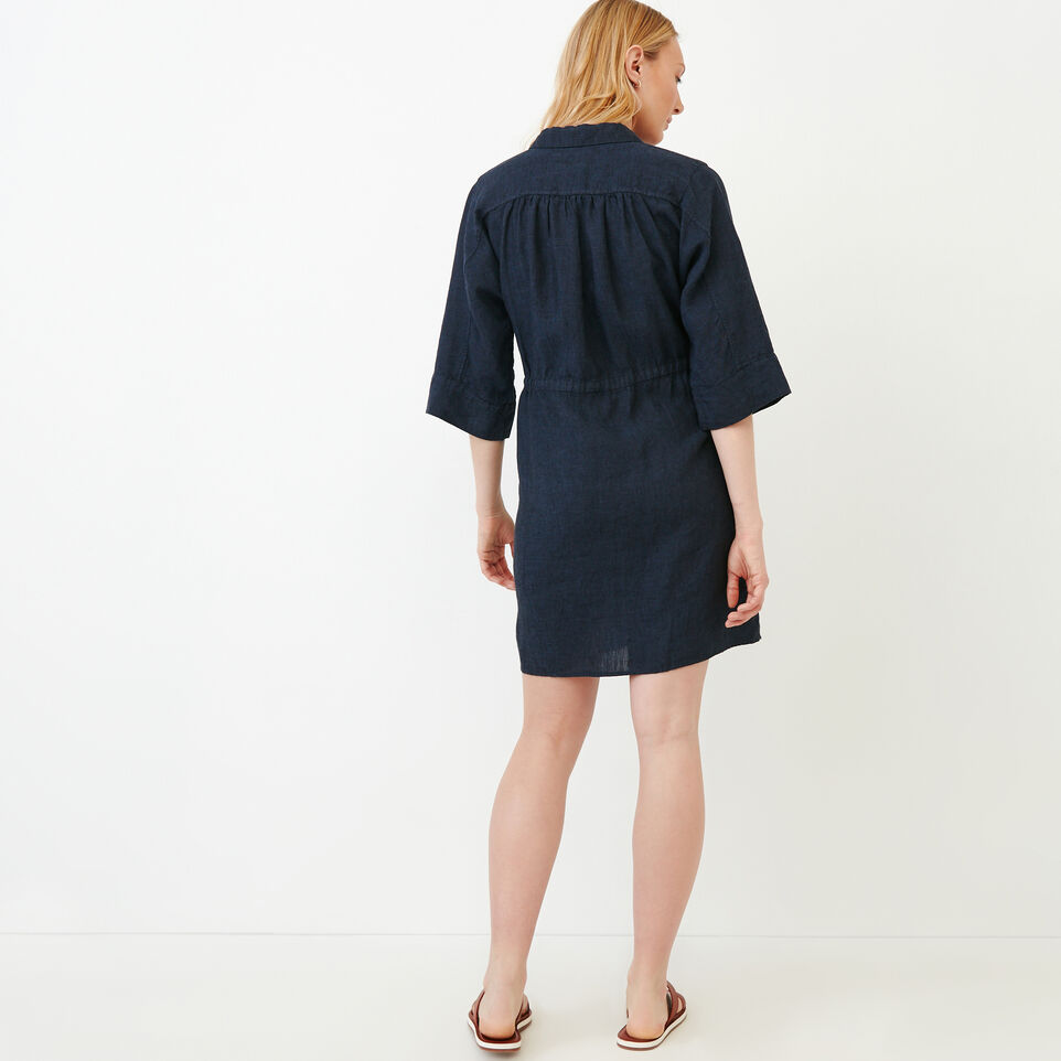 Roots-Women Our Favourite New Arrivals-Weymouth Dress-Indigo-D