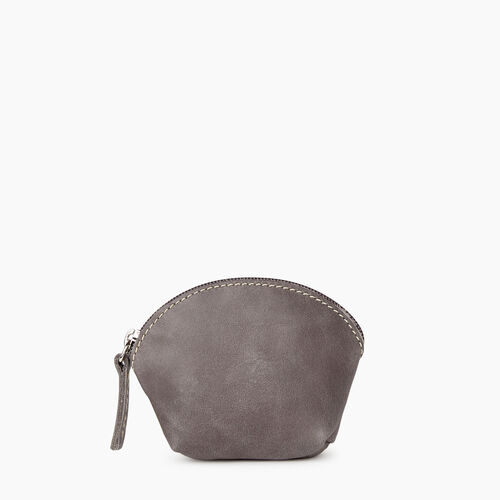 Roots-Leather Our Favourite New Arrivals-Small Euro Pouch-Charcoal-A