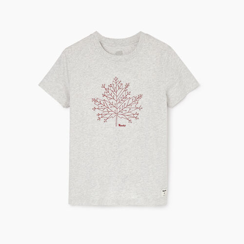 Roots-Women Categories-Womens Snowflake T-shirt-Snowy Ice Mix-A