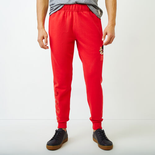 Roots-Men Our Favourite New Arrivals-Lunar New Year Park Slim Sweatpant-Racing Red-A