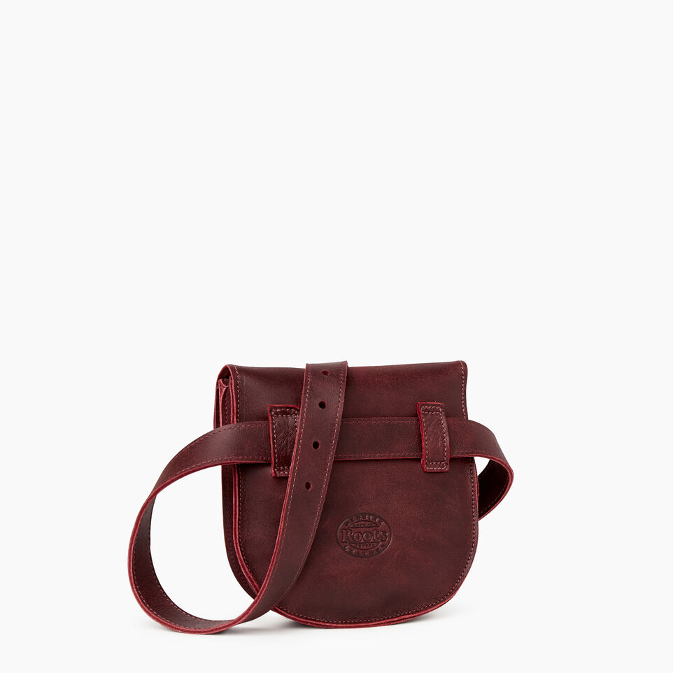Roots-Leather Our Favourite New Arrivals-Lambert Belt Pack-Crimson-C