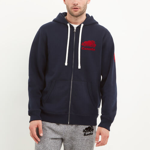 Roots-Men Canada Collection By Roots™-Mens Cooper Canada Zip Hoody-Navy Blazer-A