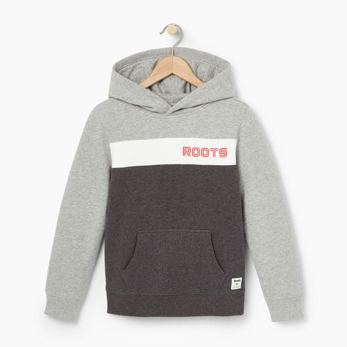 Roots-Winter Sale Kids-Boys Sportsmas Kanga Hoody-Charcoal Mix-A