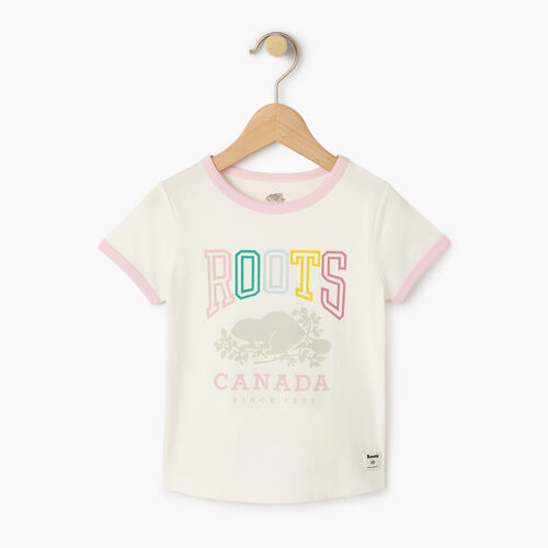 Roots-Kids T-shirts-Toddler Roots Classic Ringer T-shirt-Cloudy White-A