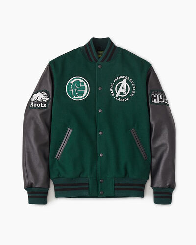Roots-New For This Month Shop By Character-Avengers Hulk Award Jacket-Green-A