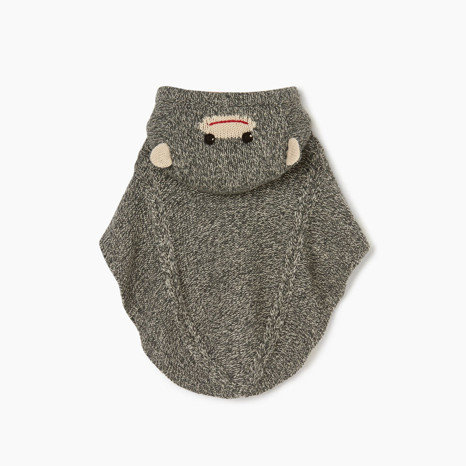 Roots-Sale Kids-Toddler Critter Poncho-Grey Oat Mix-B