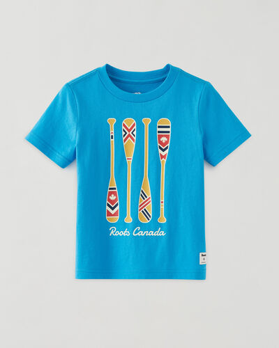 Roots-Kids Tops-Toddler Paddle T-shirt-Lake Blue-A