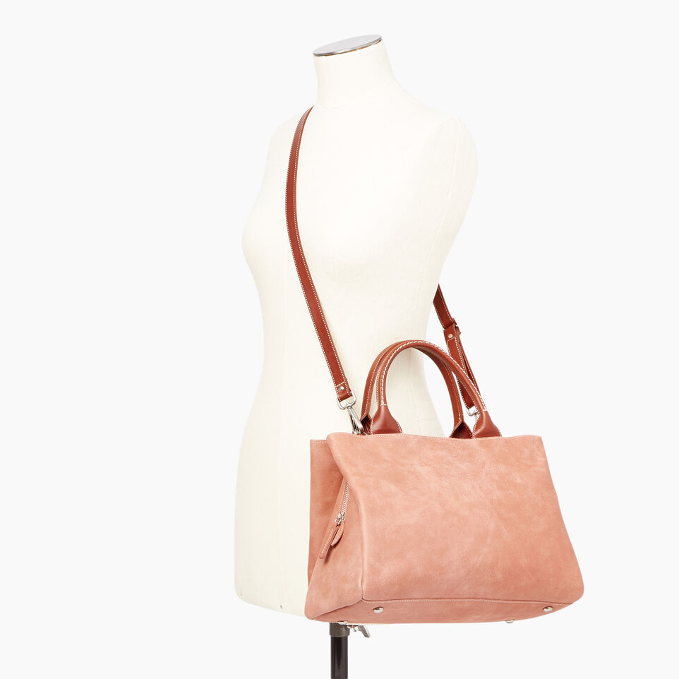 Roots-Leather Our Favourite New Arrivals-Mont Royal Bag-Canyon Rose/oak-B