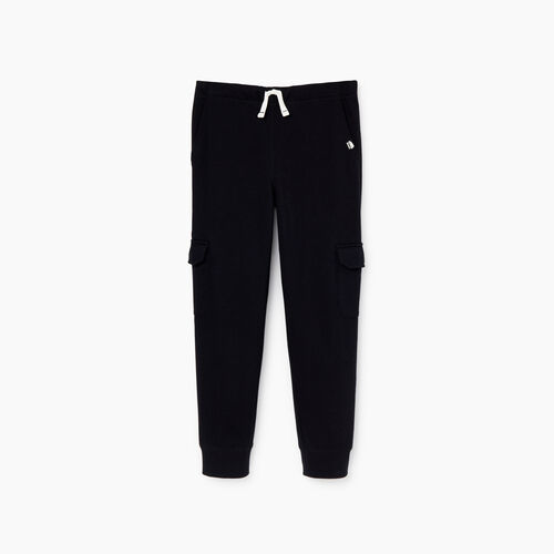 Roots-Kids Bottoms-Boys Park Slim Cargo Pant-Black-A