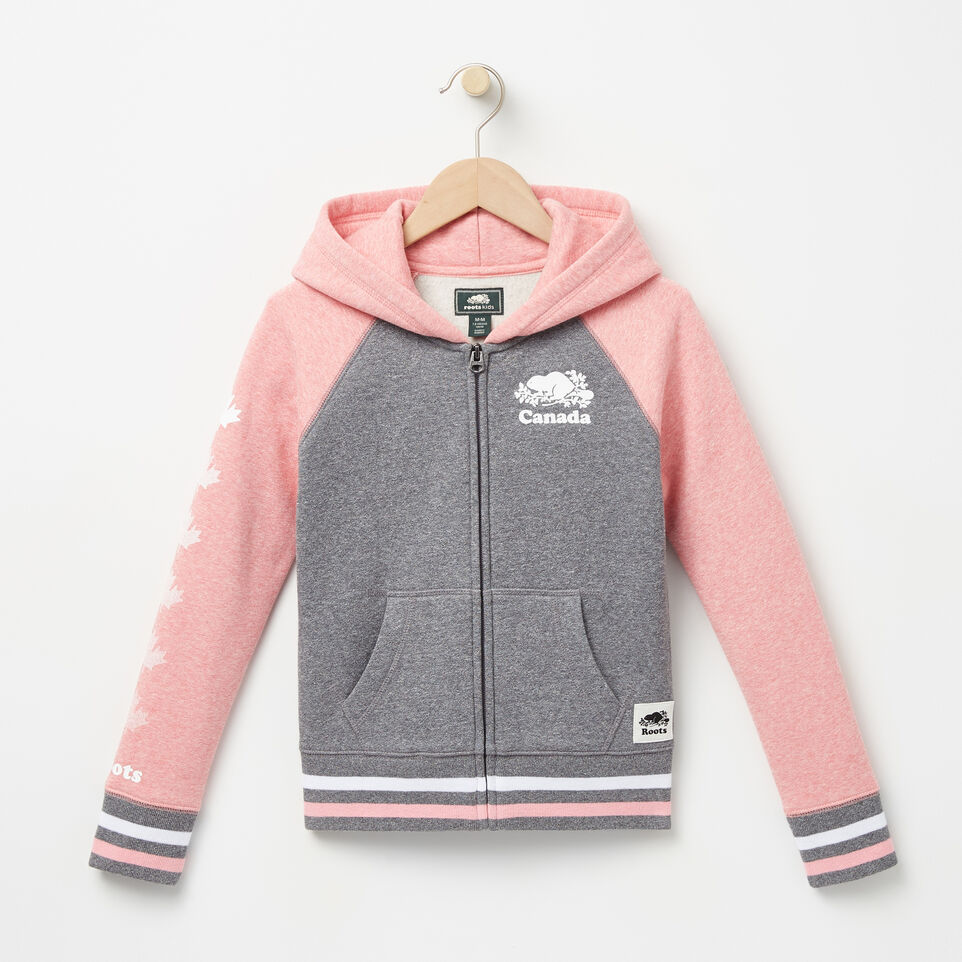 Roots-undefined-Girls Cooper Canada Full Zip Hoody-undefined-A