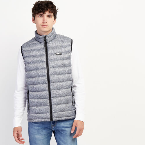 Roots-New For November Packable Jackets-Roots Packable Down Vest-Salt & Pepper-A