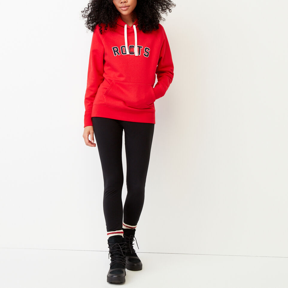 Roots-Clearance Women-Anniversary Hoody-Racing Red-B