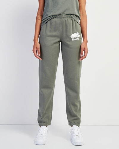 Roots-Women Bottoms-Original Sweatpant-Agave Green-A