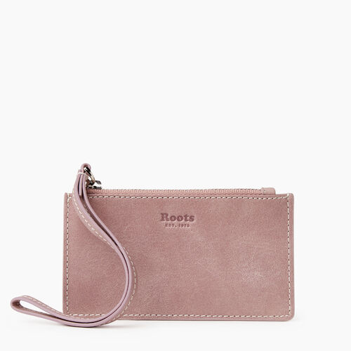 Roots-Leather Leather Accessories-Medium Card Wristlet Tribe-Woodrose-A