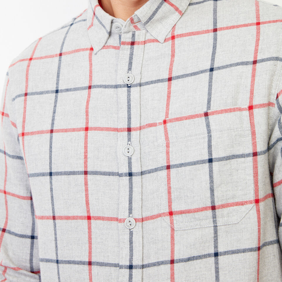 Roots-Men Our Favourite New Arrivals-Nordic Flannel Shirt-Med Grey Mix-E