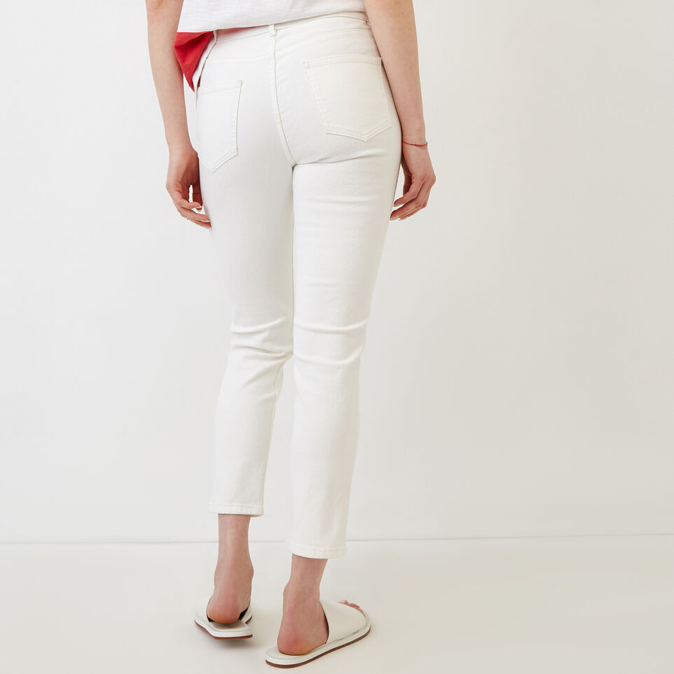 Roots-Women Categories-Cropped Stretch Riley Jean-White-D