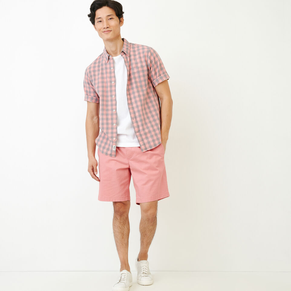Roots-Men Our Favourite New Arrivals-White Pine Short Sleeve Shirt-Sunset Apricot-B