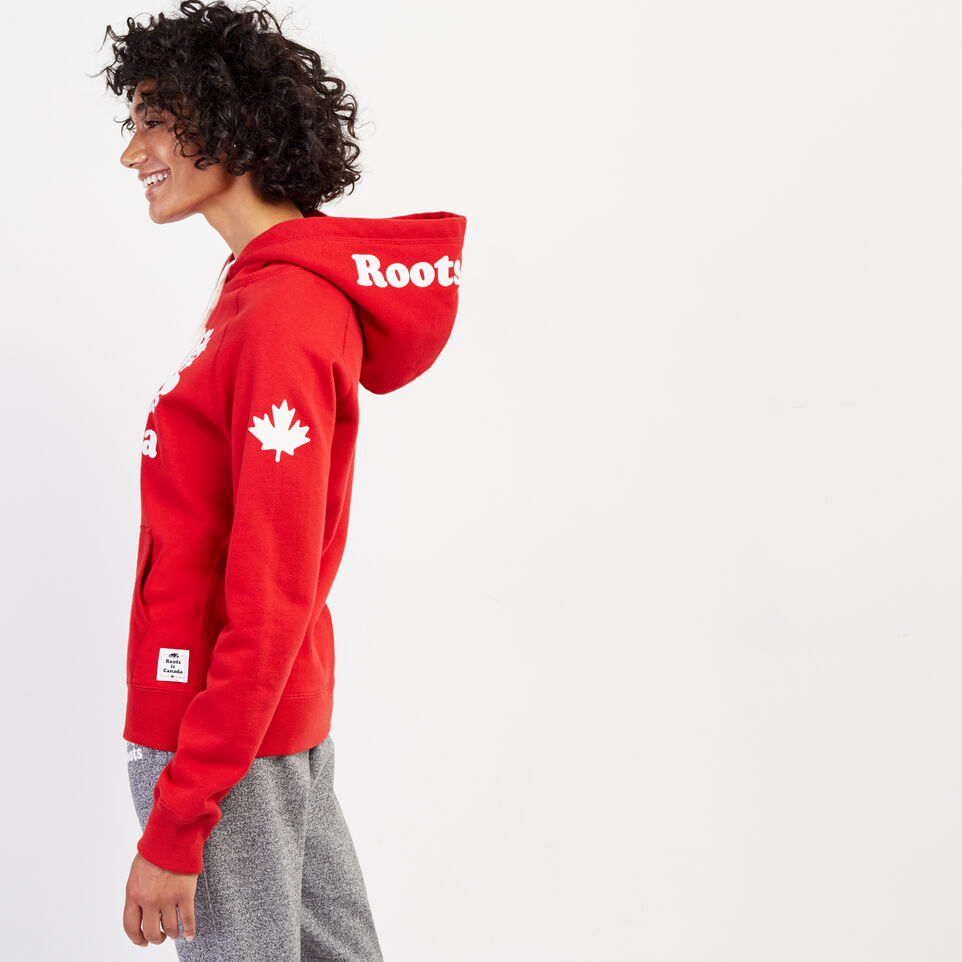Roots-Women Clothing-Womens Cooper Canada Hoody-Sage Red-C