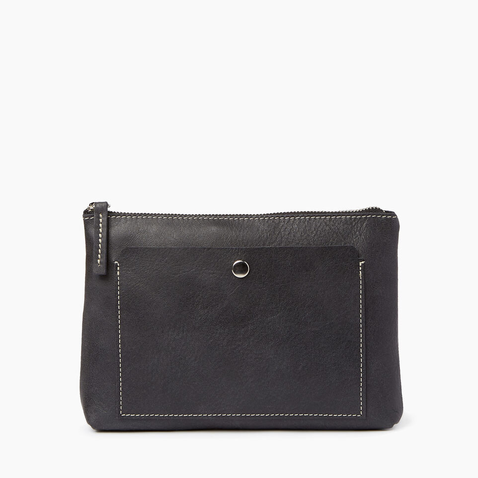 Roots-Leather  Handcrafted By Us Our Favourite New Arrivals-Carrier Pouch-Jet Black-A