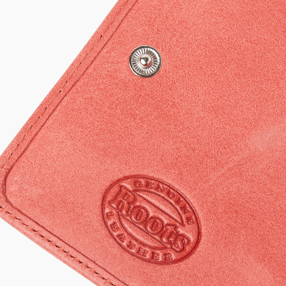 Roots-Leather New Arrivals-Small Zip Wallet Tribe-Coral-F