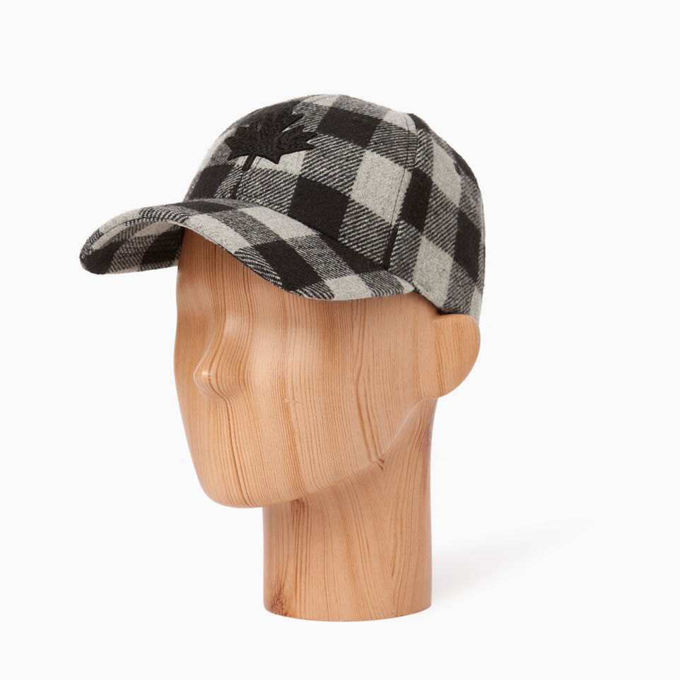 Roots-New For December Today Only: 40% Off Park Plaid Collection-Park Plaid Leaf Baseball Cap-Grey Mix-B