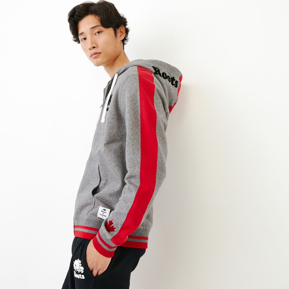 Roots-Men Canada Collection By Roots™-Canada Zip Hoody-Grey Mix Pepper-C