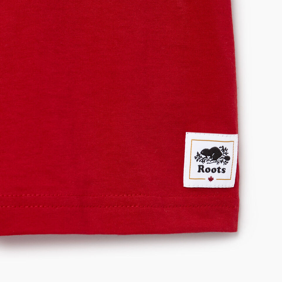 Roots-Kids Our Favourite New Arrivals-Toddler Cooper Canada Ringer T-shirt-Sage Red-C