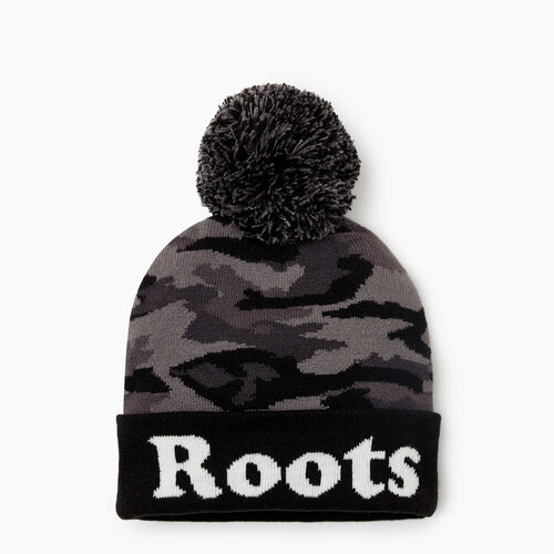 Roots-Kids Accessories-Kids Camo Toque-Black Camo-A