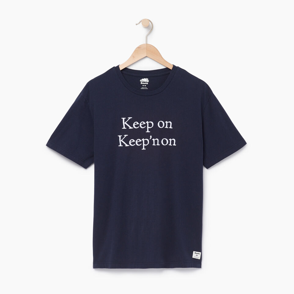 Roots-Men Our Favourite New Arrivals-Mens Quotes T-shirt-Navy Blazer-A