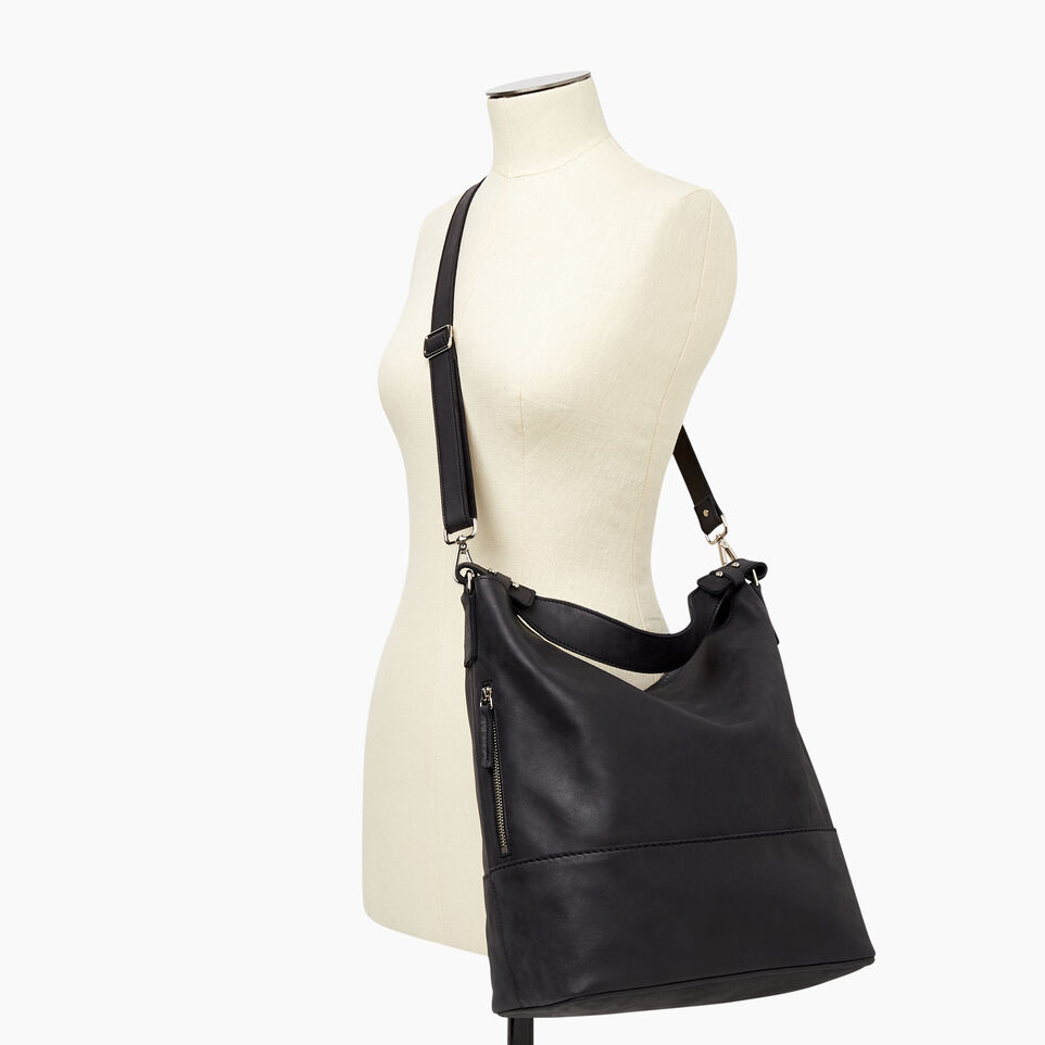 Roots-Leather Our Favourite New Arrivals-West End Hobo-Jet Black-B