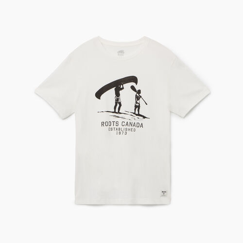 Roots-Men New Arrivals-Mens Founders T-shirt-Ivory-A