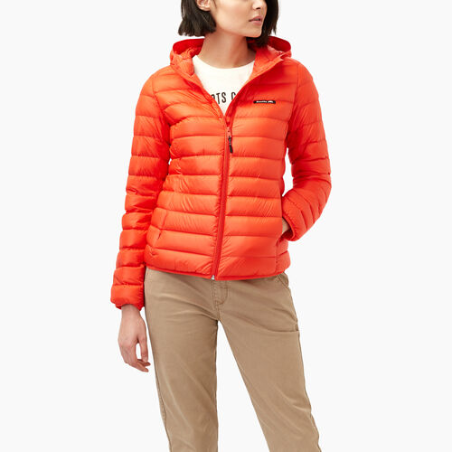 Roots-Women Outerwear-Roots Packable Down Jacket-Spicy Orange-A