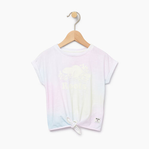 Roots-Kids Toddler Girls-Toddler Watercolour Tie T-shirt-Ivory-A