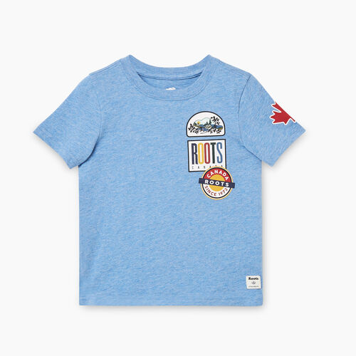 Roots-Kids Toddler Boys-Toddler Camp Patch T-shirt-Federal Blue Mix-A