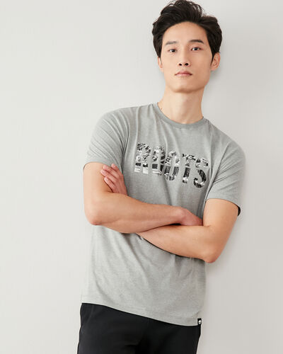 Roots-Men Graphic T-shirts-Mens City To Cabin T-shirt-Grey Mix-A
