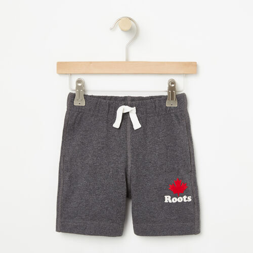 Roots-Kids Bottoms-Toddler Maple Jersey Shorts-Charcoal Mix-A
