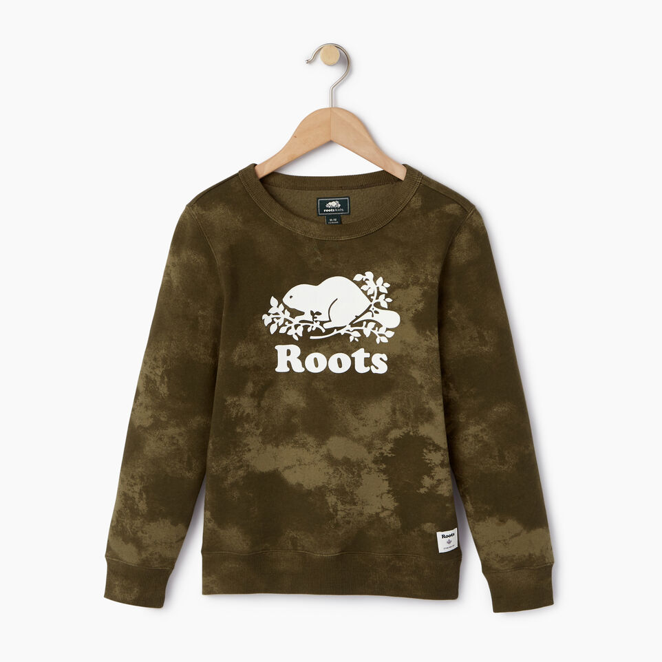 Roots-Kids Our Favourite New Arrivals-Boys Cloud Nine Sweatshirt-Winter Moss Green-A