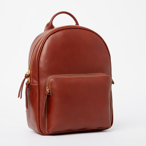 Roots-Leather Backpacks-Chelsea Pack Heritage-Oak-A 633657e260