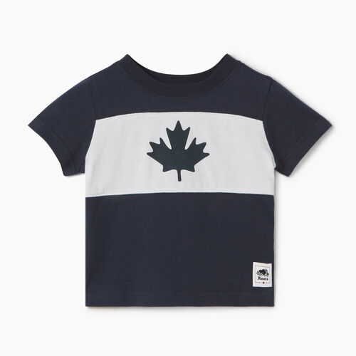Roots-Kids Baby-Baby Blazon T-shirt-Navy Blazer-A