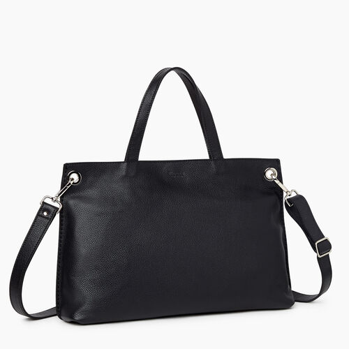 Roots-Leather Totes-Edie Tote Cervino-Black-A