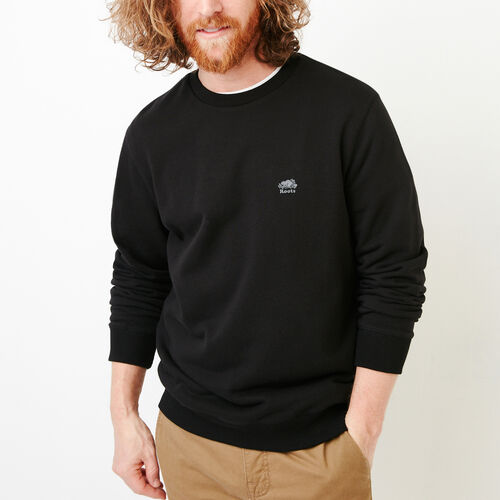 Roots-Men Our Favourite New Arrivals-Cooper Crew Sweatshirt-Black-A