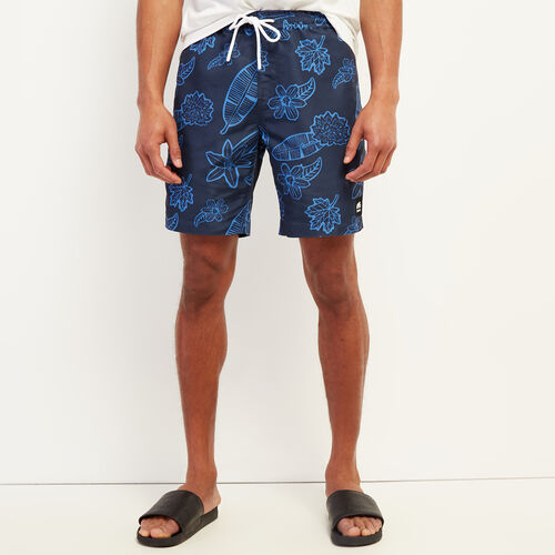 Roots-Men New Arrivals-Packable Swim Short-Cascade Blue-A